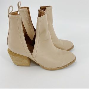 Jeffrey Campbell blush leather ankle booties